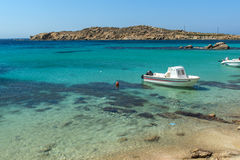 Paranga Beach on the island of Mykonos, Greece Stock Images