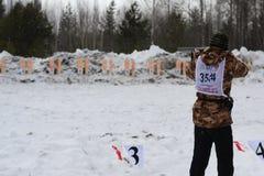 Hunting Biathlon Royalty Free Stock Photography