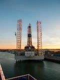 Parangon C463 de plate-forme pétrolière dans le port d'IJmuiden Photographie stock libre de droits