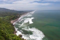Parangtritisstrand bij het eiland van Java dichtbij Jogyakarta Stock Afbeelding