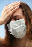 Paranoïa de grippe photo libre de droits