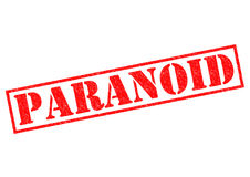 paranoïde stock illustratie