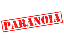 paranoia Stockfoto