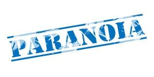 Paranoia blue stamp stamp. On white background Stock Photos