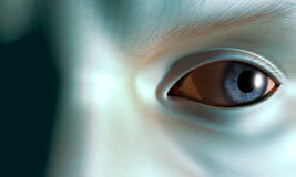 Paranoia. Close up of mans eyeball Royalty Free Stock Image