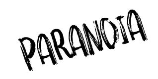 Paranoia rubber stamp. Grunge design with dust scratches. Effects can be easily removed for a clean, crisp look. Color is easily changed Royalty Free Stock Photos