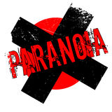 Paranoia rubber stamp Stock Images