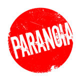Paranoia rubber stamp. Grunge design with dust scratches. Effects can be easily removed for a clean, crisp look. Color is easily changed Royalty Free Stock Photo