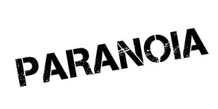 Paranoia rubber stamp. Grunge design with dust scratches. Effects can be easily removed for a clean, crisp look. Color is easily changed Royalty Free Stock Images
