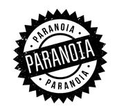 Paranoia rubber stamp. Grunge design with dust scratches. Effects can be easily removed for a clean, crisp look. Color is easily changed Royalty Free Stock Image