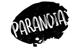 Paranoia rubber stamp. Grunge design with dust scratches. Effects can be easily removed for a clean, crisp look. Color is easily changed Stock Images