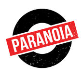Paranoia rubber stamp. Grunge design with dust scratches. Effects can be easily removed for a clean, crisp look. Color is easily changed Stock Image