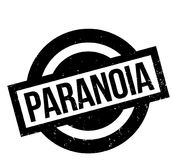 Paranoia rubber stamp. Grunge design with dust scratches. Effects can be easily removed for a clean, crisp look. Color is easily changed Stock Photos