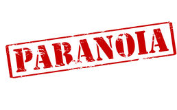 Paranoia. Rubber stamp with word paranoia inside,  illustration Stock Photos