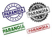 Grunge Textured PARANOIA Seal Stamps royalty free illustration