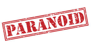 Paranoid stamp on white background stock illustration