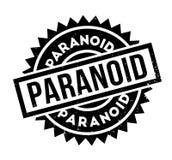 Paranoid rubber stämpel stock illustrationer