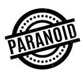 Paranoid rubber stämpel royaltyfri illustrationer