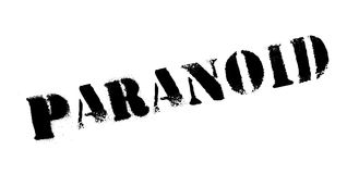 Paranoid rubber stamp royalty free illustration