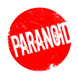 Paranoid rubber stamp Royalty Free Stock Images