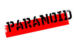 Paranoid rubber stamp Stock Image