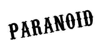 Paranoid rubber stamp. Grunge design with dust scratches. Effects can be easily removed for a clean, crisp look. Color is easily changed vector illustration