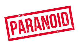 Paranoid rubber stamp Royalty Free Stock Photo