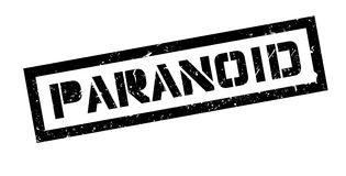 Paranoid rubber stamp Stock Photography