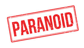Paranoid rubber stamp Royalty Free Stock Photos