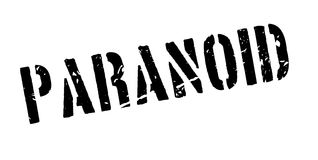 Paranoid rubber stamp Stock Images