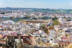 Paranoramic widok Seville, Hiszpania zdjęcia royalty free