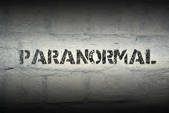 Paranormal word gr Royalty Free Stock Photography