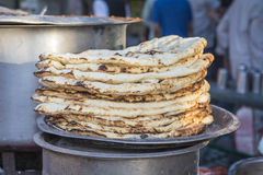 Parantha on stall Stock Images