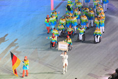 Paraolympic team of Germany at opening ceremony of winter Parao Royalty Free Stock Photography