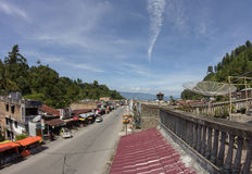 Parapat city, North Sumatra, Indonesia stock photography