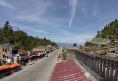 Parapat stad, norr Sumatra, Indonesien Arkivbild
