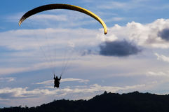 Paraglide. Flying in the sky with diamond Stock Photos