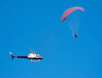 Parapente pursuit Stock Image
