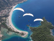 Parapentisme Oludeniz Photo stock