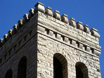 Parapet. Defensive fortification above the stone ramparts of a castle Royalty Free Stock Image