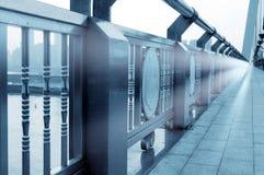 Parapeto moderno del puente Imagen de archivo libre de regalías