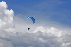 Paraplan. In the beautiful sky Stock Images