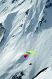 Paraplane. Sion, Switzerland - Paraplane in the Alpine mountains Stock Images