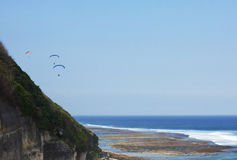 Paraplane in bali. Paraplane sport in Bali (indonesia Royalty Free Stock Photography