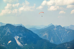 Paraplane in the sky above the Alps. Paraplane in the sky above the  Alps Stock Image