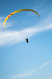 Paraplane in the sky. Paraplane flying in the sky Royalty Free Stock Images