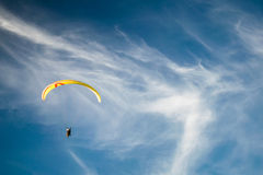 Paraplane in the sky. Paraplane flying in the sky Stock Photos