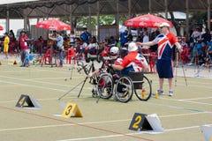 Paraplegic archer Stock Photos