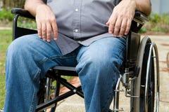 Paraplegic im Rollstuhl Stockbild