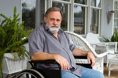 Paraplegic-Mann Stockfotos